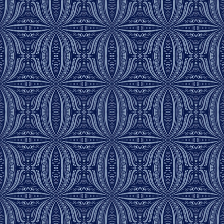 Seamless Vintage Lace Pattern (Vector). Hand Drawn Tile Texture, Ethnic Ornament Vector