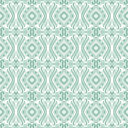 vitrage: Seamless Vintage Lace Pattern (Vector). Hand Drawn Tile Texture, Ethnic Ornament