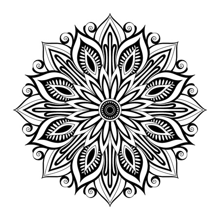 mehendi: Beautiful Deco Mandala (Vector), Patterned Design, Amulet