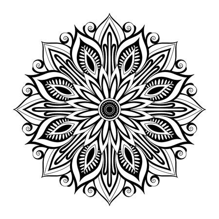 Hermosa Deco Mandala (Vector), Diseño modelado, Amuleto Ilustración de vector