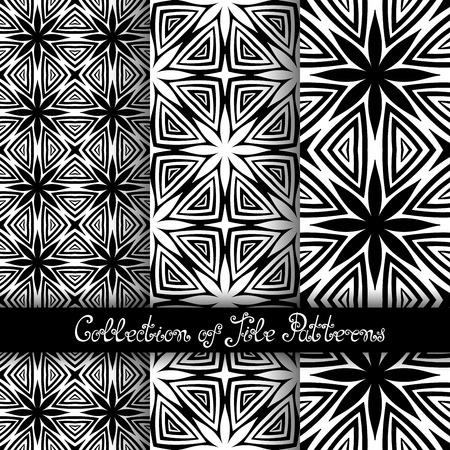 vitrage: Set of 3 Seamless Vintage Patterns