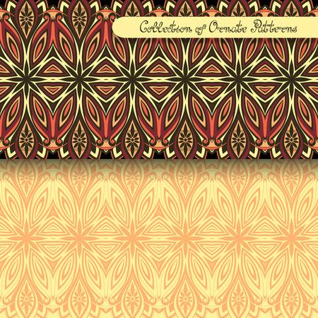 vitrage: Set of 2 Seamless Vintage Patterns  Illustration