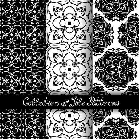 vitrage: Set of 3 Seamless Vintage Patterns