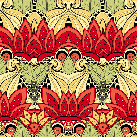 batik pattern: Vector Seamless Abstract Tribal Pattern. Hand Drawn Ethnic Texture, Flight of Imagination