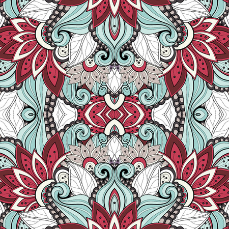 Vector Seamless Abstract Tribal Pattern. Hand Drawn Ethnic Texture, Flight of Imagination