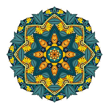 amulet: Vector Beautiful Deco Colored Mandala, Patterned Design Element, Ethnic Amulet