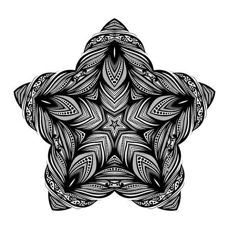 mendi: Black Star Design Element Illustration
