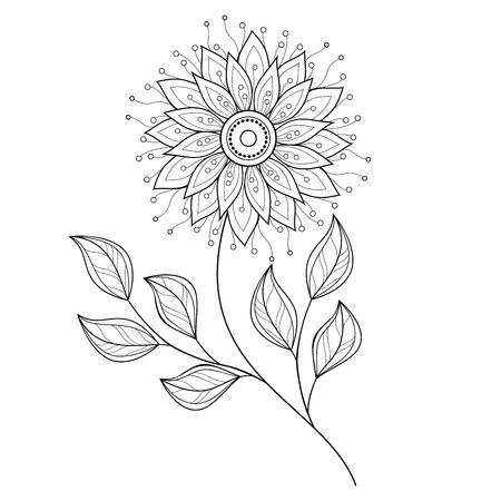 the contour: Monochrome Contour Flower