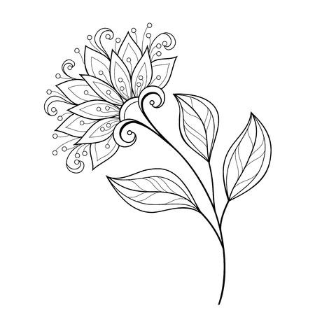 Monochrome Contour Flower