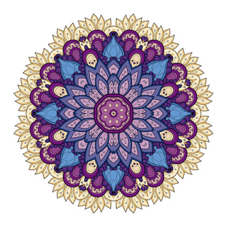 mandala tattoo: Colored Mandala Design Element Illustration