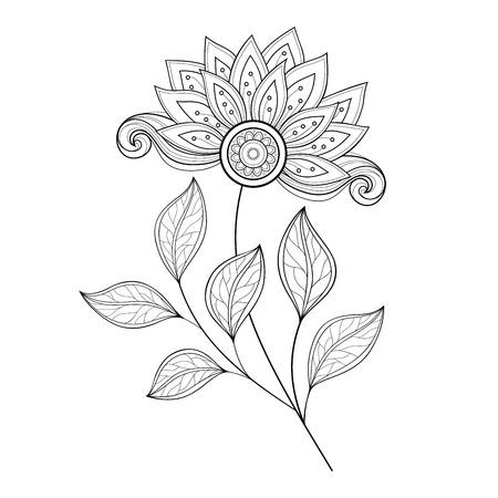 contour: Monochrome Contour Flower