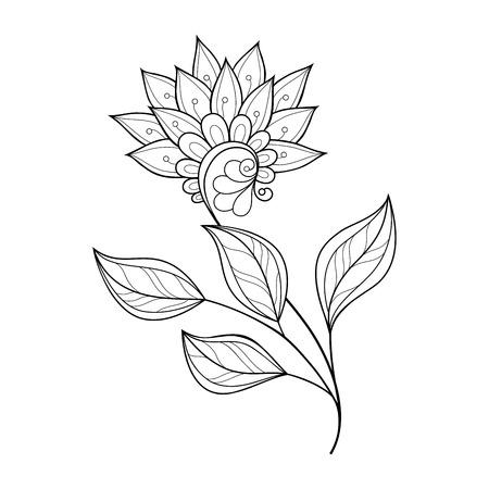 art icons: Monochrome Contour Flower