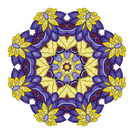 mendi: Colored Mandala Design Element Illustration