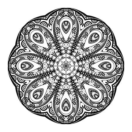 mendi: Black Mandala Design Element Illustration