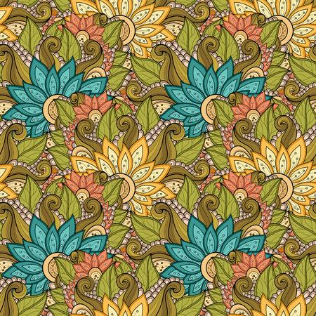 bouquet fleurs: Motif vectorielle Seamless Floral. Hand Drawn Floral Texture, Fleurs d�coratives, Coloring Book