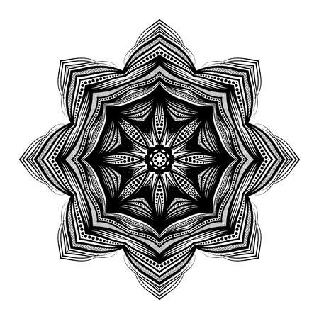 amulet: Beautiful Deco Black Mandala, Patterned Design Element, Ethnic Amulet