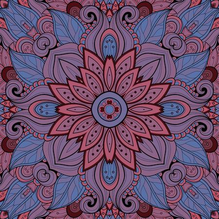 florecitas: Vector incons�til abstracto Modelo tribal. Dibujado a mano Textura �tnica, el vuelo de la imaginaci�n Vectores