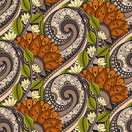 Pattern Vector Seamless floreale. Drawn floreale Texture, Fiori decorativi, Coloring Book mano Archivio Fotografico - 45713016