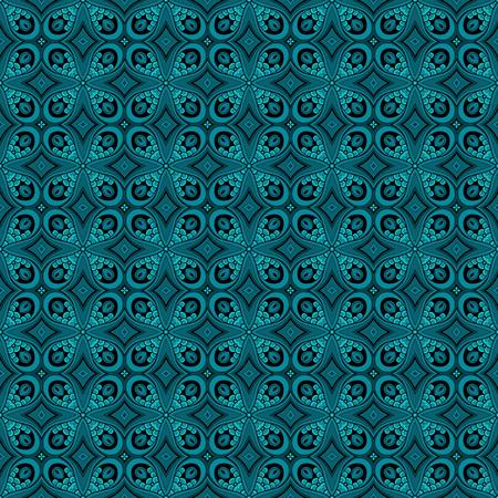 fondo de circo: Modelo incons�til del vector cord�n de la vendimia. Hand Drawn azulejo textura, Adorno �tnico