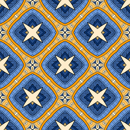 Vector Seamless Vintage Lace Pattern. Hand Drawn Tile Texture, Ethnic Ornament