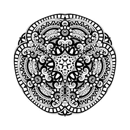 indian pattern: Vector Beautiful Deco Black Triangle, Patterned Design Element, Original Mandala