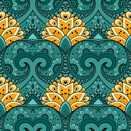 paper art: Vector Seamless Abstract Tribal Pattern. Hand Drawn Ethnic Texture, Flight of Imagination