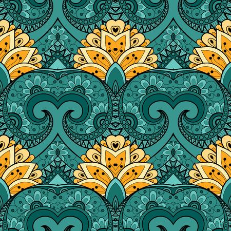 batik: Vectorielle Seamless R�sum� Motif tribal. Hand Drawn Texture ethnique, Flight of Imagination