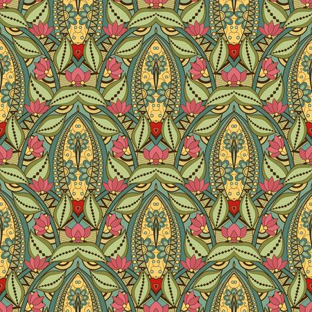 batik: Seamless Abstract Tribal Pattern.Ethnic Texture, Flight of Imagination Illustration