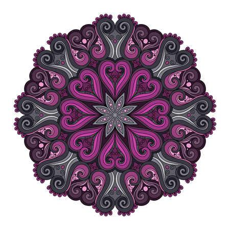 amulet: Deco Colored contour Mandala, Patterned Design Element, Ethnic Amulet
