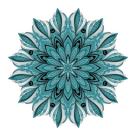 mendi: Vector Beautiful Deco Colored contour Mandala