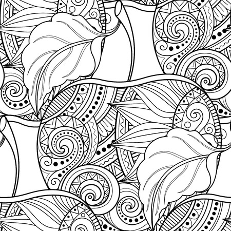 harvest time: Vector Seamless Monochrome Fruit Pattern. Hand Drawn Decorative Apple