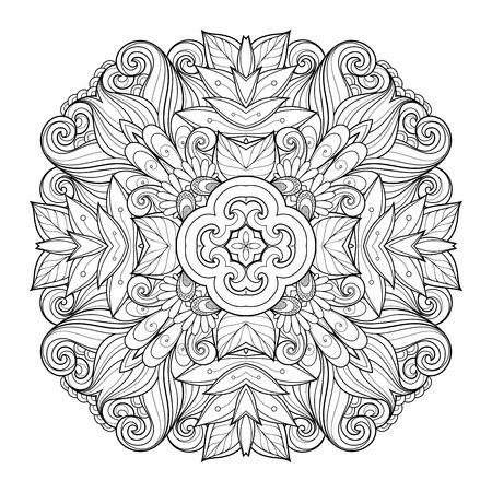 serviette: Deco Monochrome Contour Square, Patterned Design Element
