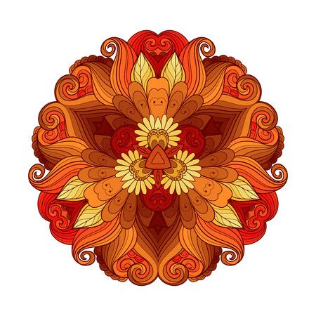 Vector hermoso color Deco Triángulo, Diseño modelado del elemento, Mandala original Ilustración de vector