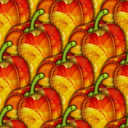 vegeterian: Vector Colored Seamless Pattern with Decorative Bell Pepper. Eating Plant. Hand Drawn Ornate Vegetable. Vegan Diet, Vegeterian Food Illustration