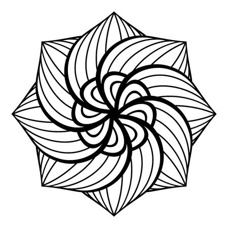 Monochrome Beautiful Decorative Ornate Mandala.