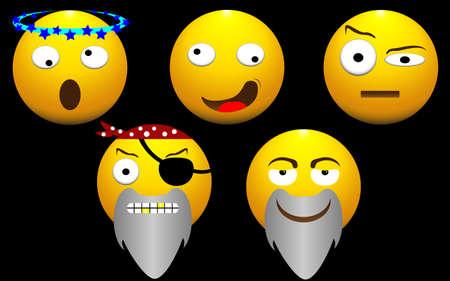 boredom: illustration of funny face