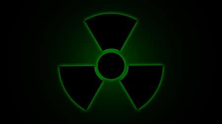 caesium: illustration   Radiation   danger   symbol   green
