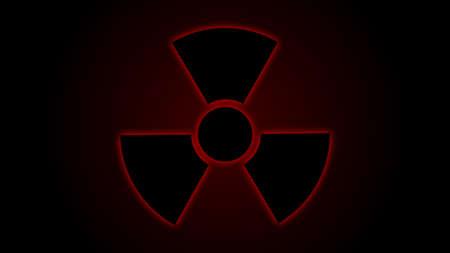 radiacion: la ilustración de la radiación símbolo de peligro roja Vectores