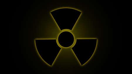 plutonium: illustration   Radiation   danger   symbol   yellow
