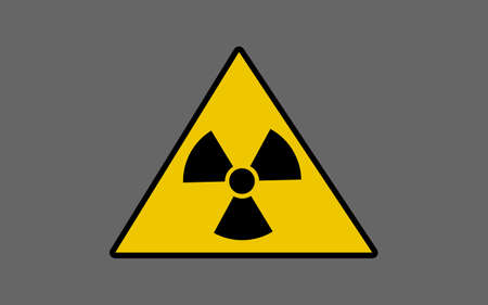 plutonium: Vector illustration of the sign of radiation danger