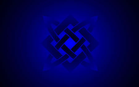 slavic: Vector illustration of Star of Russia and Slavic culture blue