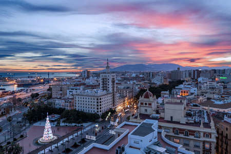 bilding: Malaga, Spain, view from the roof of the bilding