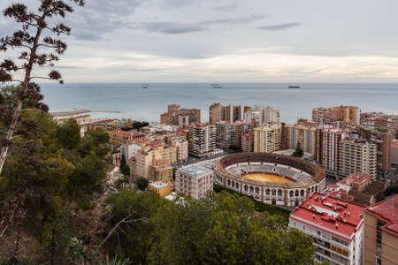bilding: Plaza de Toros de la Malagueta, Malaga, Spain Editorial