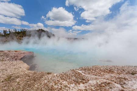 midway: Midway Geyser basin Yellowstone, Wyoming, USA Stock Photo