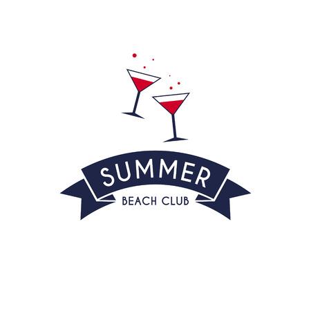 Summer drink logo. Vector Illustration