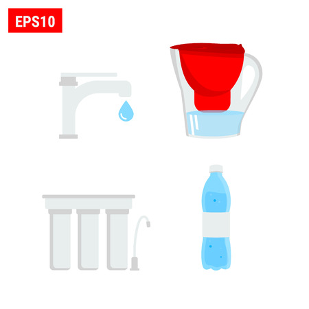 Set of water filters 向量圖像