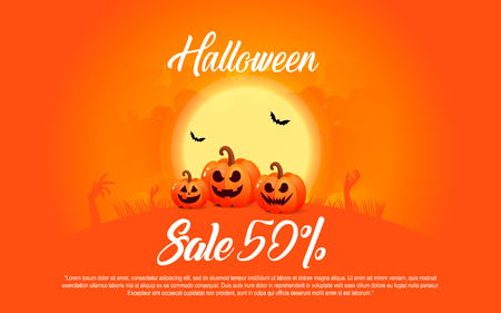 ghost house: Colorful template for sales.