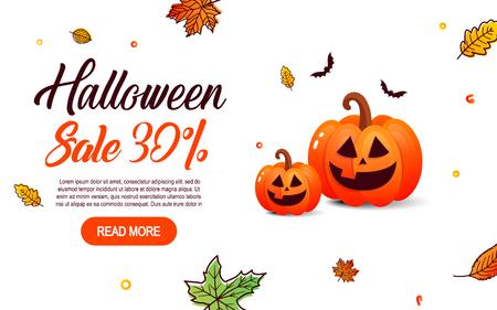 of helloween: Halloween sale offer design template.