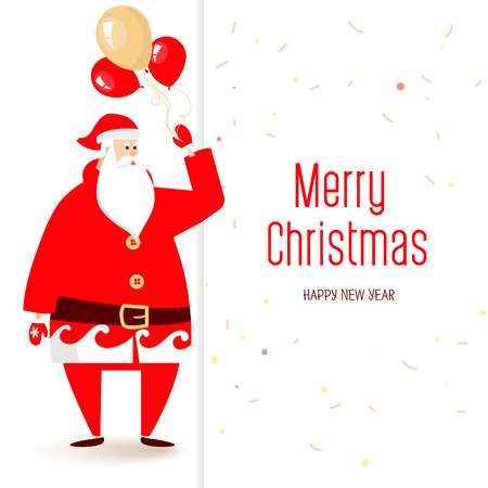 upside: Merry Christmas calligraphy lettering design. Creative typography for holiday greeting. Illustration