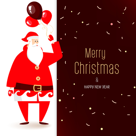 Merry Christmas calligraphy lettering design. Creative typography for holiday greeting. Illustration